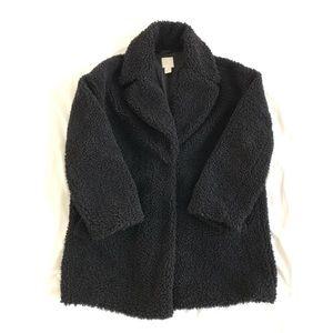 H&M Faux Shearling Black Coat